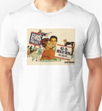 ELVIS : Vintage G.I.Blues Movie Advertising Print T-Shirt
