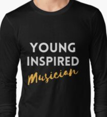 Young, Inspired, Musician - Gold T-Shirt