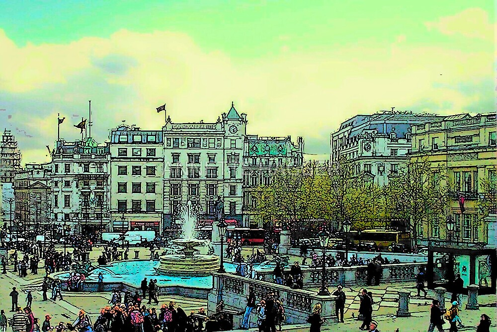TRAFALGAR SQUARE, LONDON by ANNETTE HAGGER