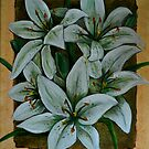 White Tiger Lilies by Avril Brand