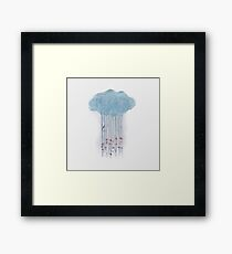 Spring Rain in the Woods Watercolor Framed Print