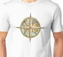 Wanderlust Compass & Map Unisex T-Shirt