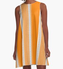 Vol Camelot Pinstripe A-Line Dress
