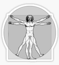 The Vitruvian Man Sticker