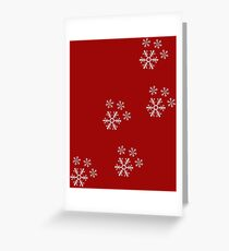 Snowflake Pawprints  Greeting Card