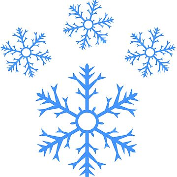 Blue Snowflake Pawprint by -Chariot-