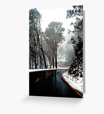 0490 Road to Mt Buffalo Greeting Card