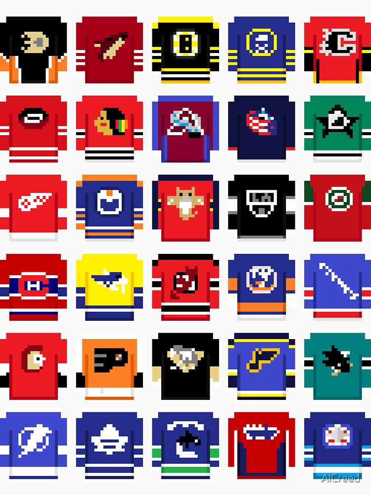 8-Bit Hockey Jerseys 2 by AlCreed