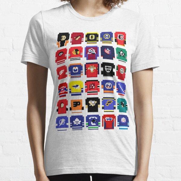8-Bit Hockey Jerseys 2 Essential T-Shirt