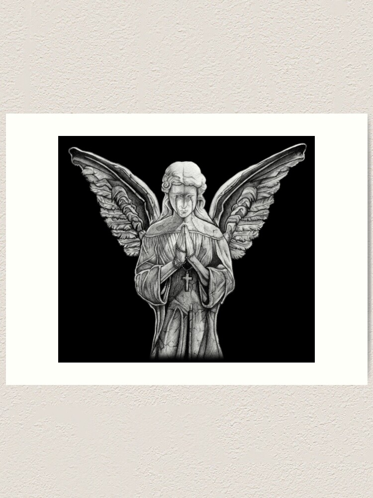 Angel Statue Art Print By Kh Designs Redbubble