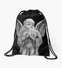 Angel - Statue Drawstring Bag