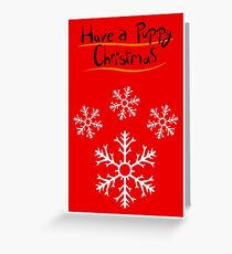 Snowflake Pawprint Greeting Card