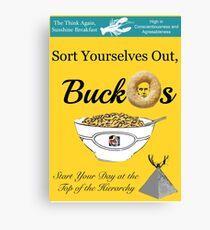 Buckos Breakfast Cereal Jordan Peterson meme Canvas Print