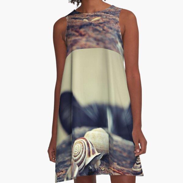Cat Snails A-Line Dress
