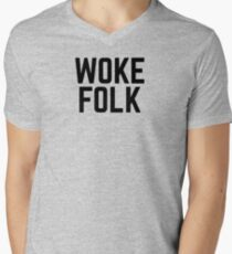 WOKE FOLK Men's V-Neck T-Shirt
