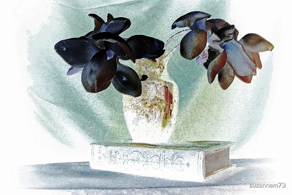 Magnolias with Book by suzannem73