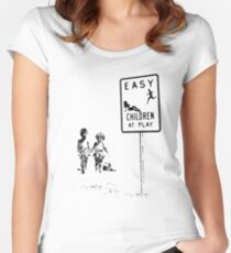 Easy...Children at play... Women's Fitted Scoop T-Shirt