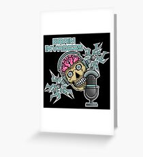 Brain Invaders Greeting Card