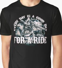 Every Day Is A Good Day For A Ride - Vintage Motorcycle Biker Design Graphic T-Shirt
