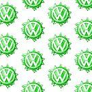 Green VW look-a-like Swirl by melodyart