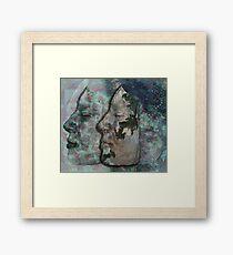 Lunar chameleon - Soulmates series Framed Print