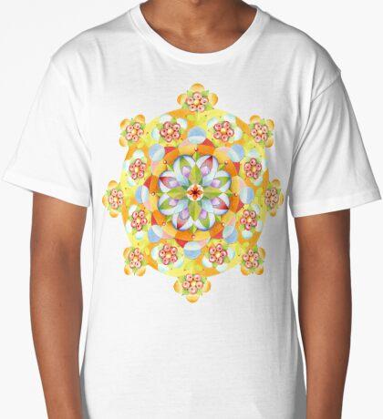Flower Garden Mandala Long T-Shirt
