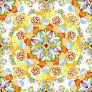 Flower Garden Mandala by PatriciaSheaArt