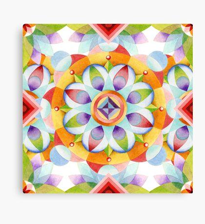 Flower Garden Kaleidoscope Canvas Print