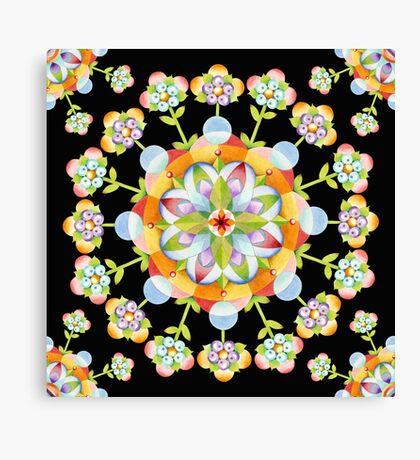 Jaipur Blossom Mandala Canvas Print