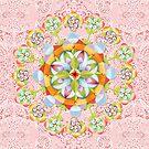 Pink Paisley Flower Mandala by PatriciaSheaArt