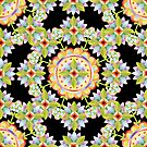 Starflower Mandala Blossoms by PatriciaSheaArt
