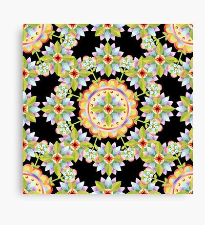 Starflower Mandala Blossoms Canvas Print
