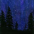 Twinkle, Twinkle, Starry Sky Watercolor Painting by ItayaArt