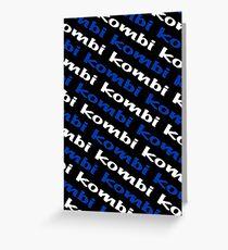 Black Blue and White Kombi  Greeting Card