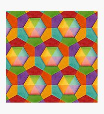 Rainbow Geometric (smaller scale) Photographic Print