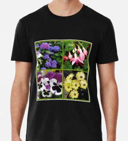 Sommer-Nostalgie - Blumencollage Premium T-Shirt