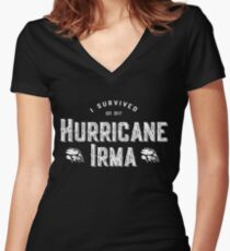 I Survived Hurricane Irma 2017 T-Shirt Women's Fitted V-Neck T-Shirt