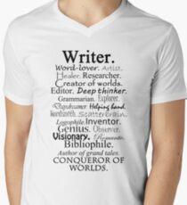 Writer Description Men's V-Neck T-Shirt
