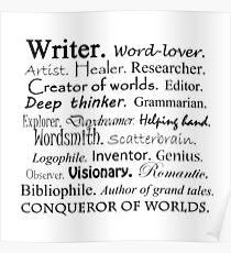 Writer Description Poster