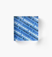 Kombi Kombi Kombi - Pale Blue Acrylic Block