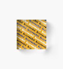 Kombi Kombi Kombi - Yellow Acrylic Block