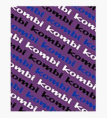 Kombi Kombi Kombi - Purple Photographic Print