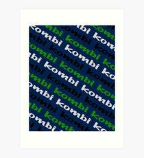 Kombi Kombi Kombi - Navy Blue Art Print