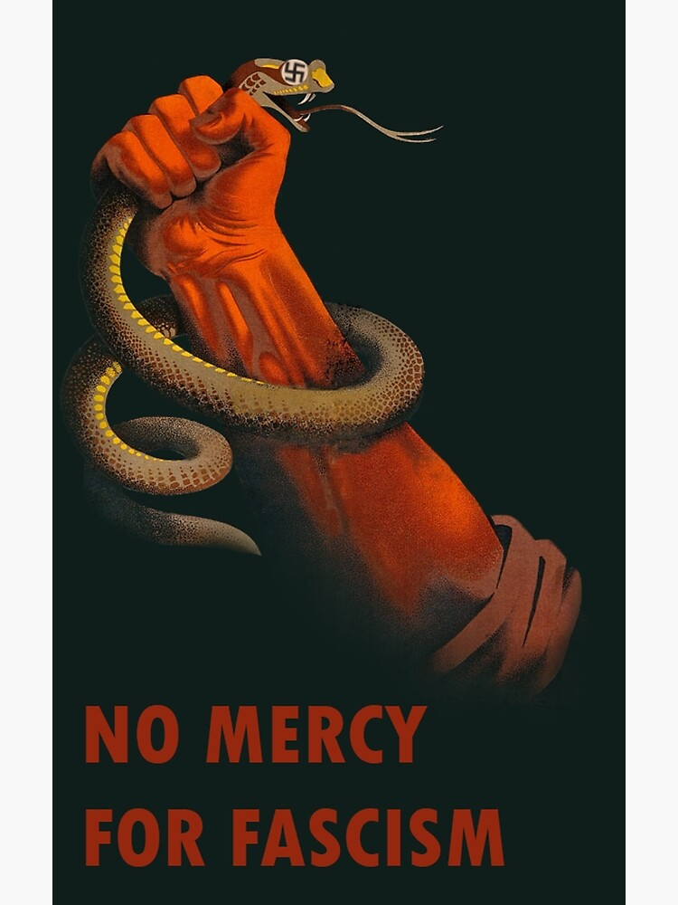 Quot No Mercy For Fascism Anti Fascist Art Quot Poster By