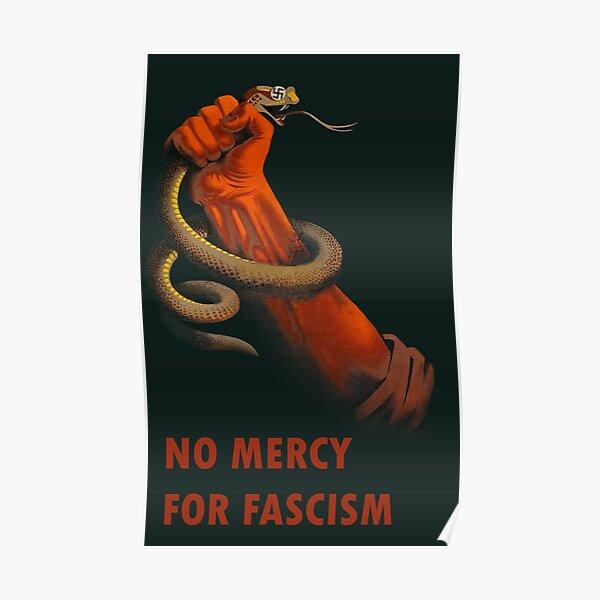 No Mercy for Fascism - Anti-Fascist Art Poster