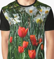 Springtime colour - daffodils and tulips Graphic T-Shirt