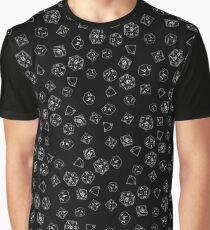 D&D DICE Pattern - Black Graphic T-Shirt