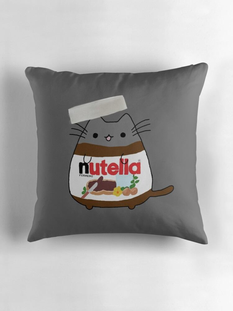 Quot Nutella Cat Quot Throw Pillows By Jessmoorexx Redbubble