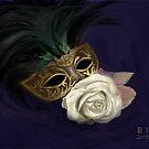 Gold Mask  by EllieTaylorArt