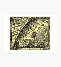 HD Flammarion Woodcut  (1888) Cosmic design Art Print